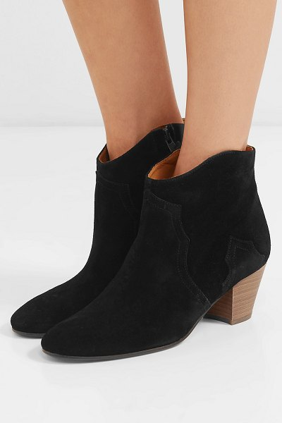 Isabel Marant dicker suede ankle boots in black