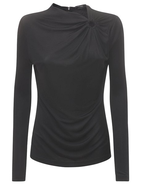 Isabel Marant Dwester draped jersey top in black
