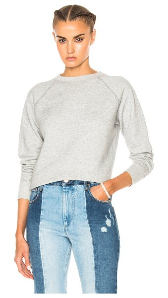 Etoile Isabel Marant Billy Sweatshirt in gray - Self: 85.5% cotton 14.5% poly - Rib: 100% cotton.  Made...