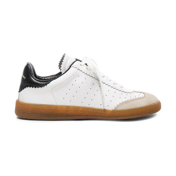 Etoile Isabel Marant Bryce Sneakers in white,black - Cowhide leather upper with rubber sole.  Made in...
