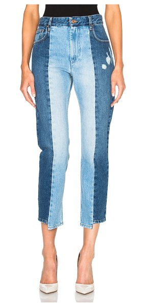 ETOILE ISABEL MARANT Clancy Patchwork Denim - 100% cotton.  Made in Morocco.  Machine wash.  Distressed...