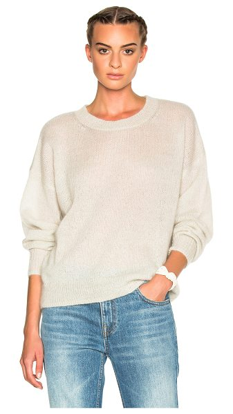 ETOILE ISABEL MARANT Clifton Mohair Sweater in neutrals - 67% superkid mohair 28% polyamide 5% wool.  Made in...
