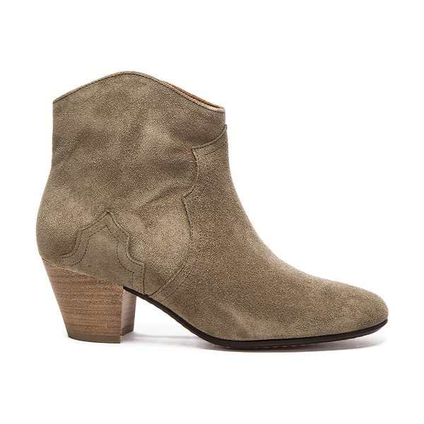 ETOILE ISABEL MARANT Dicker Velvet Booties - Calfskin velvet leather upper with leather sole.  Made in...