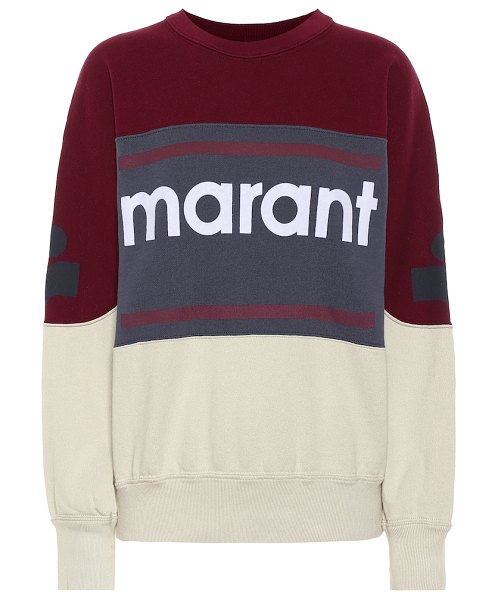 Isabel Marant, Étoile gallian logo cotton-blend sweatshirt in red