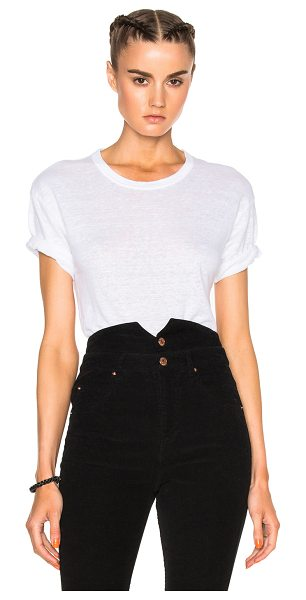 Etoile Isabel Marant Keiran Linen Tee in white - 100% linen.  Made in Tunisia.  Hand wash.
