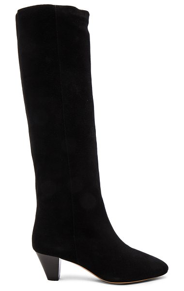 Etoile Isabel Marant Robby New Velvet Boots in black - Calfskin velvet leather upper with leather sole.  Made...