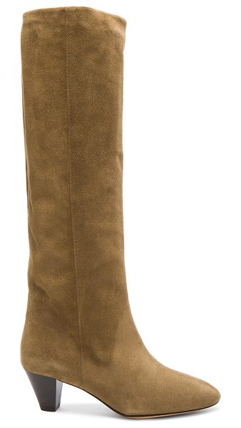 Etoile Isabel Marant Robby New Velvet Boots in brown - Calfskin velvet leather upper  with leather sole.  Made...