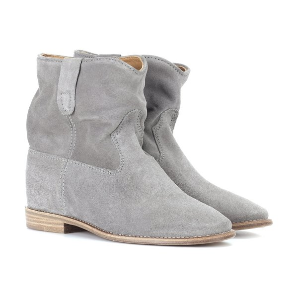 Isabel Marant exclusive to mytheresa – crisi suede ankle boots in grey