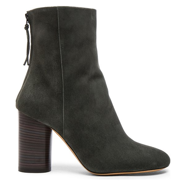 Isabel Marant Garett Velvet Boots in green - Goat suede upper with leather sole.  Made in Italy. ...