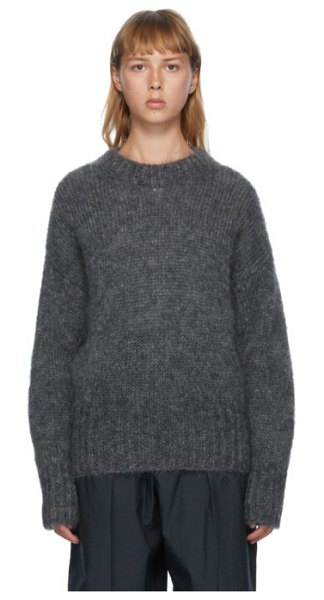 Isabel Marant grey mohair estelle sweater in 02an anthra