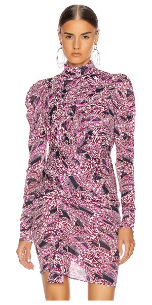 Isabel Marant jalford top in pink & blue