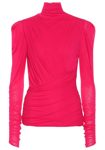 Isabel Marant jalford turtleneck blouse in pink