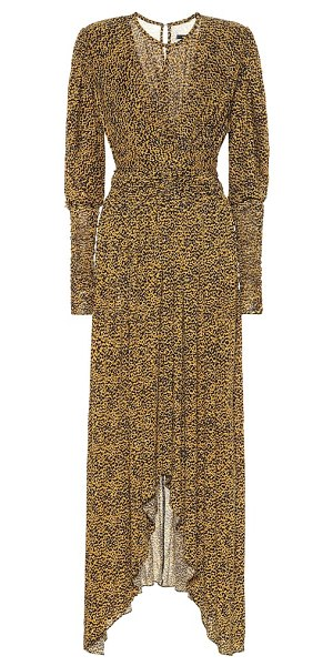Isabel Marant jucienne printed crêpe-jersey dress in yellow