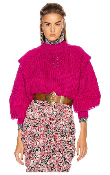 Isabel Marant kevy sweater in fuchsia