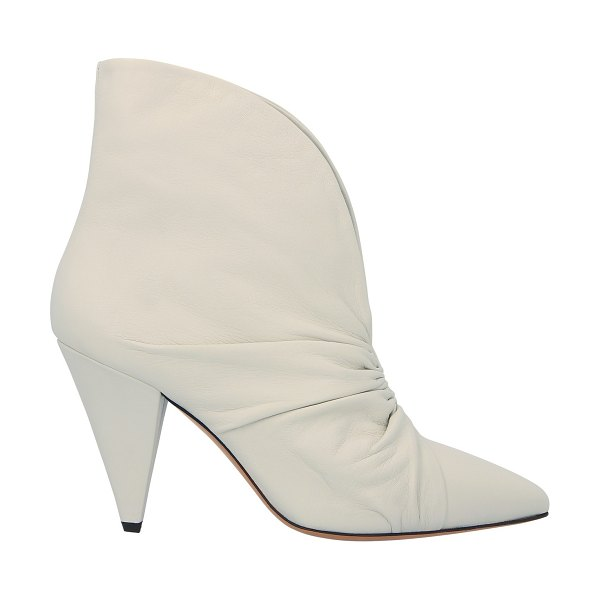 Isabel Marant Lasteen heeled ankle boots in white