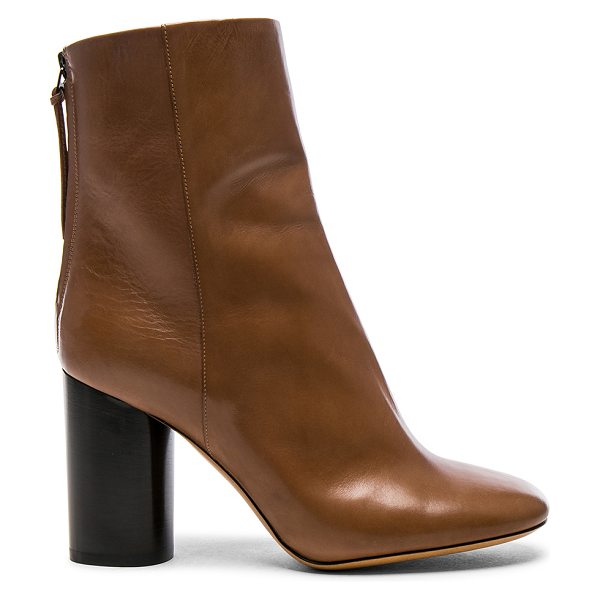 ISABEL MARANT Leather Garett Boots - Leather upper and sole.  Made in Italy.  Shaft measures...