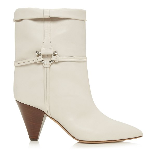Isabel Marant lilet embellished leather ankle boots in white