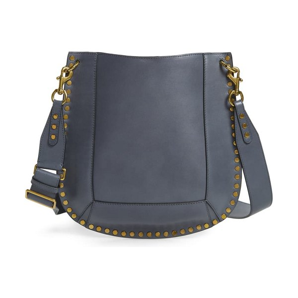 Isabel Marant oskan leather hobo bag in greyish blue