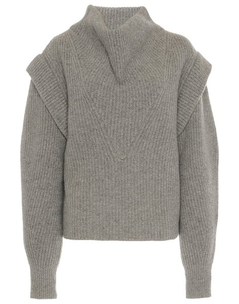 Isabel Marant poppy cowl-neck wool-cashmere sweater in grey