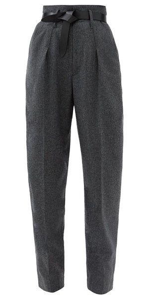 Isabel Marant racomisl pleated pressed-wool tapered trousers in grey