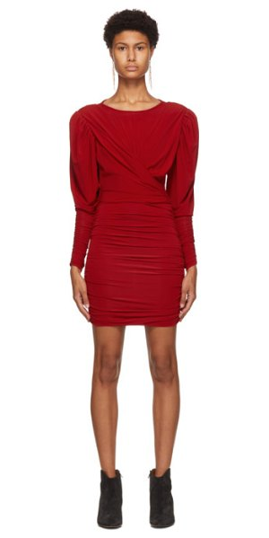 Isabel Marant red ghita dress in 70rd red