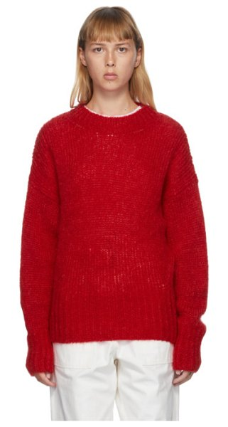 Isabel Marant red mohair estelle sweater in 70rd red
