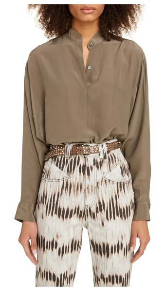 Isabel Marant silk blouse in khaki
