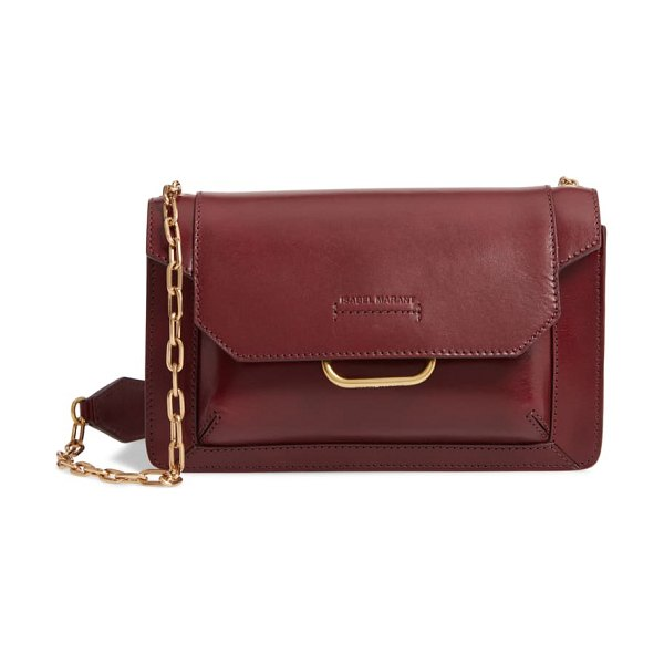 Isabel Marant skamy leather crossbody bag in burgundy