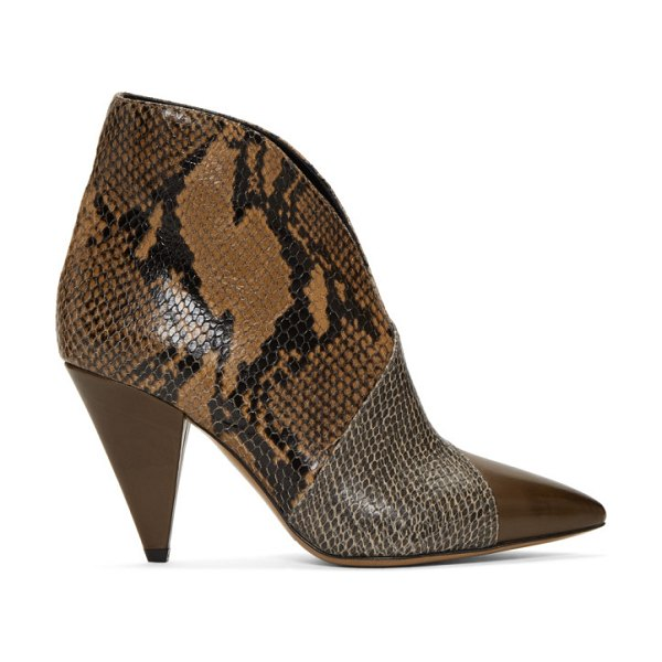 Isabel Marant taupe archenn boots in taca taupe