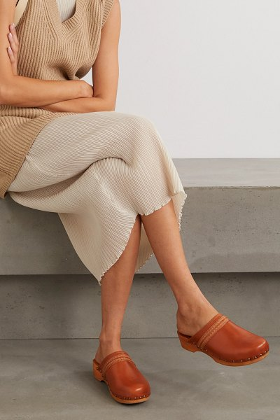 Isabel Marant thalie studded leather clogs in tan