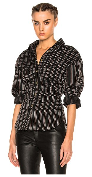 Isabel Marant Verona Top in black,stripes,red - 54% silk 43% cupro 4% cotton.  Made in Europe.  Dry...