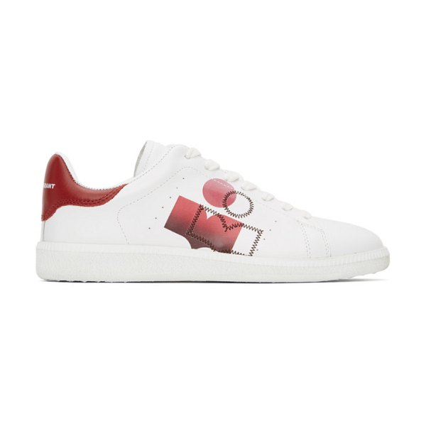 Isabel Marant white and red billyo sneakers in 70rd red