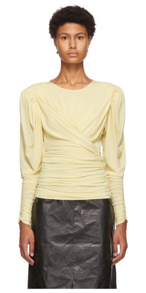 Isabel Marant yellow gimli blouse in 10yw yellow