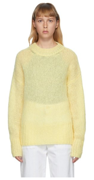 Isabel Marant yellow mohair estelle sweater in 10yw yellow
