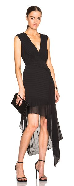 Issa Tia Dress in black - 100% poly.  Made in Poland.  Fully lined.  Hidden side...