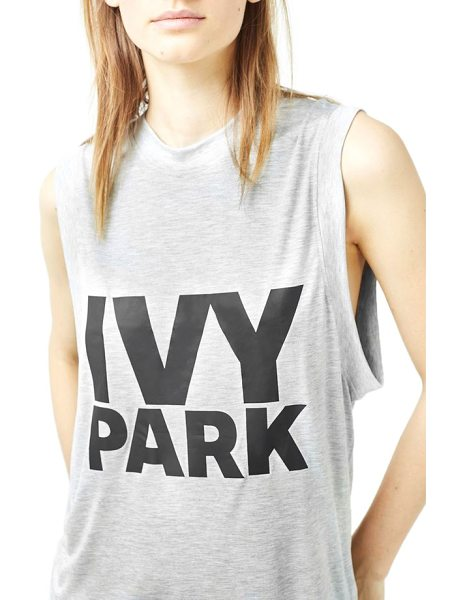 IVY PARK logo tank in grey - Light and breathable modal jersey is used for this...