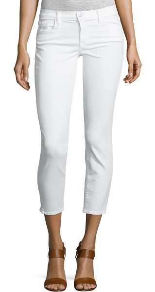 J Brand 835 Mid-Rise Cropped Jeans in blanc