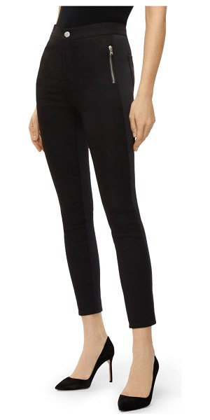 J Brand Alana High-Rise Skinny Scuba Pants in black