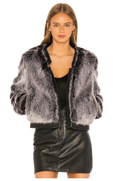 J Brand ashbey faux fur jacket in silver fox