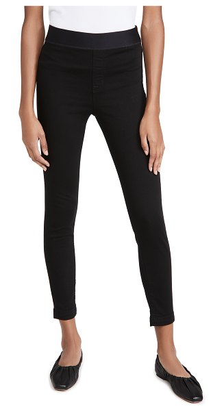 J Brand dellah high rise legging jeans in eco seriously black
