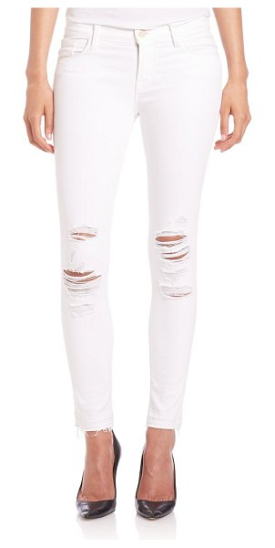 J Brand 9326 low-rise distressed crop skinny jeans in demented