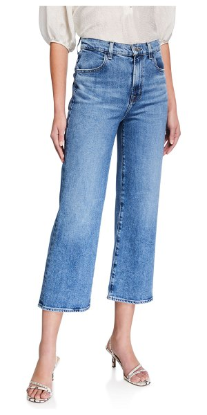J Brand Joan High-Rise Wide-Leg Crop Jeans in chadron