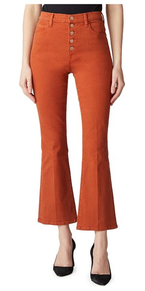 J Brand lillie high-rise crop flare jeans in lazlo