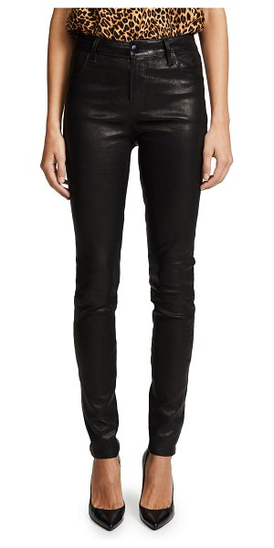 J Brand maria high rise leather pants in black