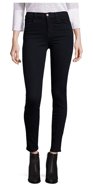 J Brand maria high-rise skinny jeans in bluebird