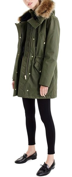 e3ed0944412 J.Crew perfect winter parka with faux fur trim in wild olive - A nearly