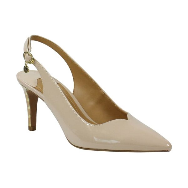 J. Renee belamie slingback pump in nude faux patent leather