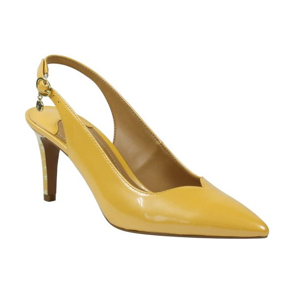 J. Renee belamie slingback pump in marigold faux patent leather