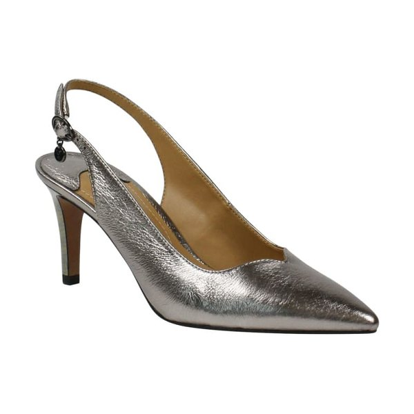 J. Renee belamie slingback pump in taupe metallic leather