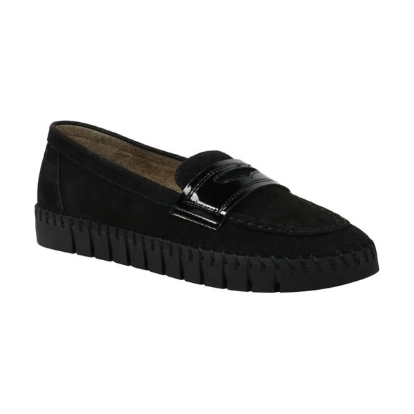 J. Renee brooklyne loafer in black suede/ patent